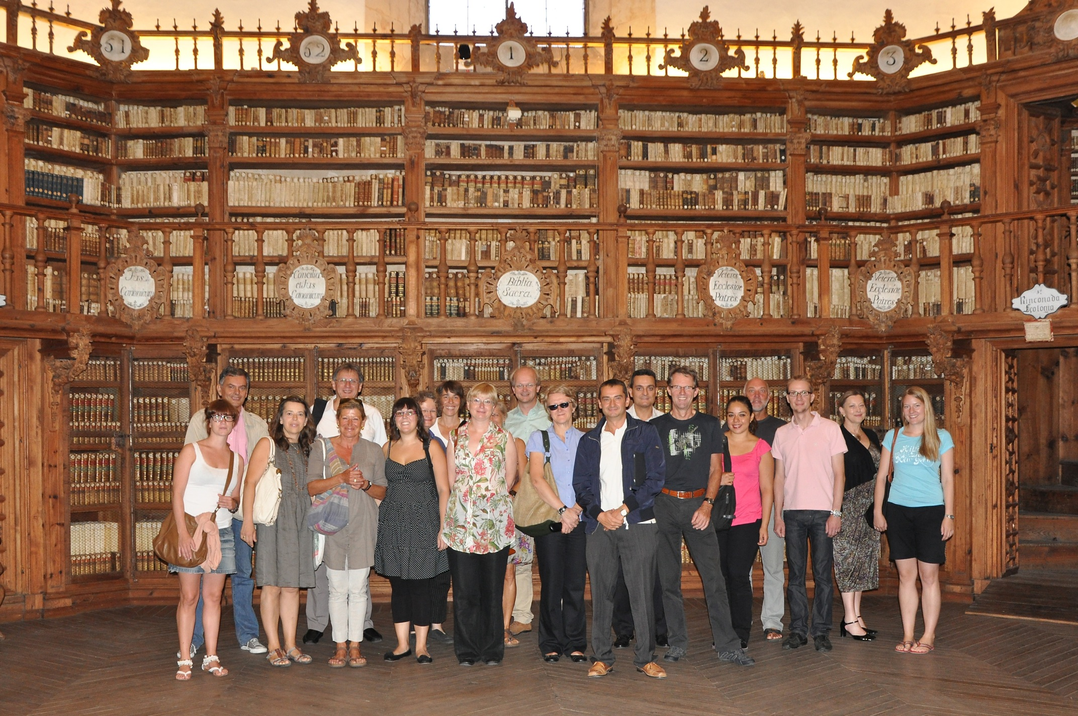 MIH Team in the Library at Salamanca University